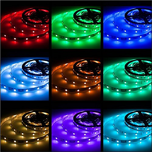 rxment led stripes 5m streifen beleuchtung 16 4 ft 5050 rgb 150 led dimmbar flexible farbe. Black Bedroom Furniture Sets. Home Design Ideas