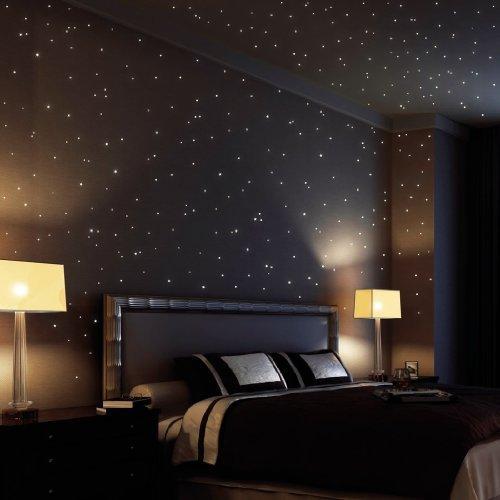 Wandtattoo Loft Sternenhimmel 350 Fluoreszierende Leuchtpunkte Und
