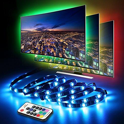 led tv hintergrundbeleuchtung infinitoo led streifen 4 50cm set usb led strip 5050 rgb mit. Black Bedroom Furniture Sets. Home Design Ideas