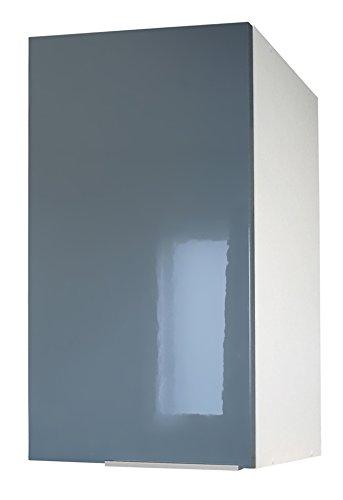 Berlenus Küchenunterschrank, mit 2 Türen, Grau Hochglanz ...