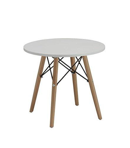 Beistelltisch Couchtisch Weiß Rund Holz Tisch Retro Design ...