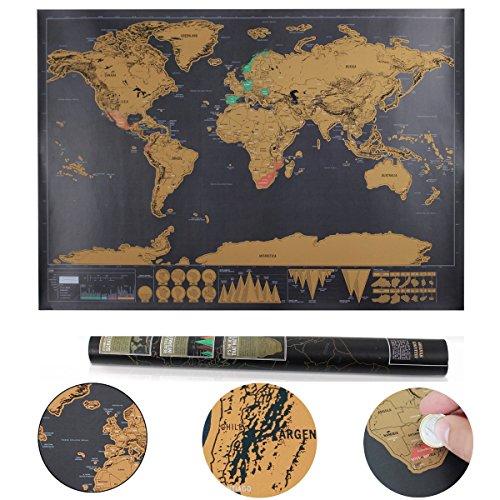 charllean weltkarte zum rubbeln rubbel landkarte deluxe poster xxl sch ne erinnerung an. Black Bedroom Furniture Sets. Home Design Ideas