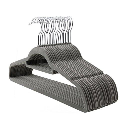 26-58 cm Der Kleiderb/ügelriese 10 x Rockspanner schwarz rutschfest beschichtet