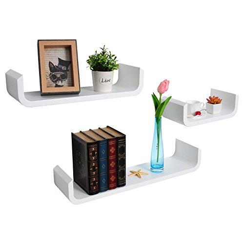 woltu rg9273ws wandregal wandboard h ngeregal diy regal u f rmig uv wei lackiert soxeno. Black Bedroom Furniture Sets. Home Design Ideas