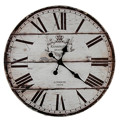xxl wanduhr uhr 58 cm shabby vintage motivuhr k chenuhr london soxeno. Black Bedroom Furniture Sets. Home Design Ideas