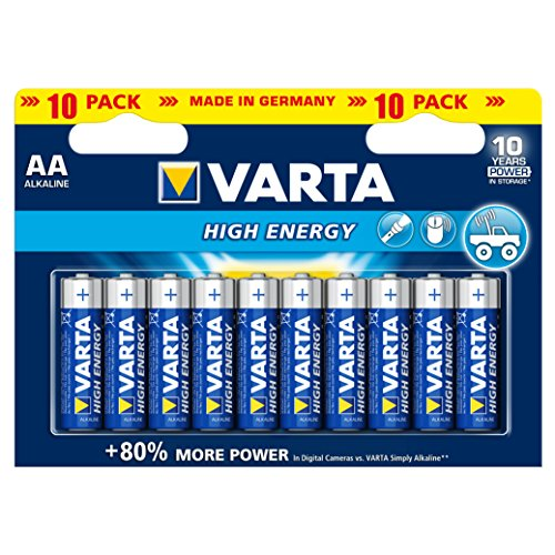 varta high energy batterie aa mignon alkaline batterien lr6 10er pack soxeno. Black Bedroom Furniture Sets. Home Design Ideas