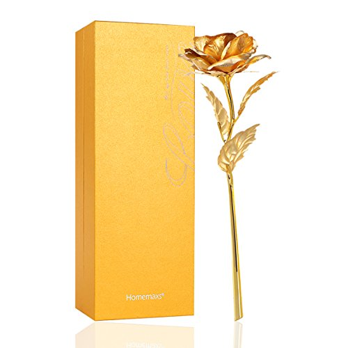 homemaxs 24k goldfolie rose geschenk f r sie. Black Bedroom Furniture Sets. Home Design Ideas