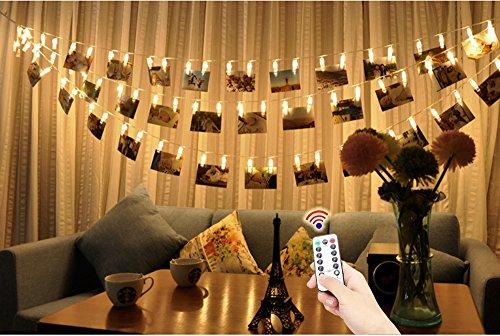 led foto clips lichterkette yte 5m 40 photo clips batteriebetriebene stimmungsbeleuchtung. Black Bedroom Furniture Sets. Home Design Ideas