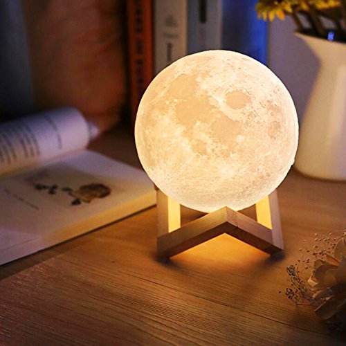 mond lampe kinder nachtlichter kinderzimmer touch steuerung helligkeit led 3d mondlampe usb. Black Bedroom Furniture Sets. Home Design Ideas