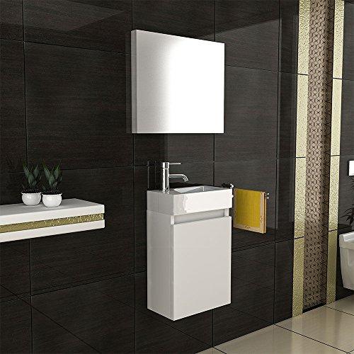 exklusive vormontierte badm bel set in wei hochglanz mit softclose funktion 40 22 cm mit. Black Bedroom Furniture Sets. Home Design Ideas