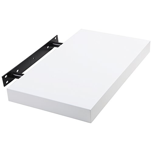 woltu rg9247ws wandboard wandregal wandregal buchregal h ngeregal dvd cd regal 40cm weiss soxeno. Black Bedroom Furniture Sets. Home Design Ideas