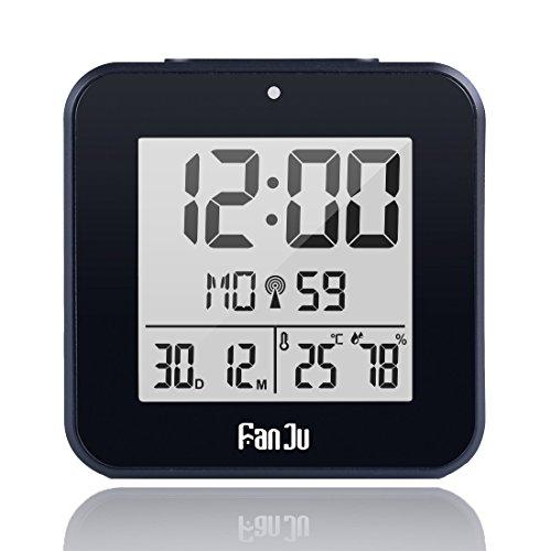 fanju fj3533 digital wecker kleiner mit doppelalarm batterie betrieben auto nachlicht. Black Bedroom Furniture Sets. Home Design Ideas