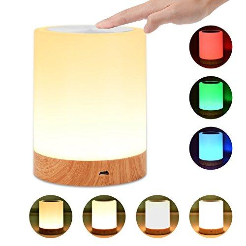 unifun nachttischlampe dimmbar atmosph re tischlampe mit. Black Bedroom Furniture Sets. Home Design Ideas
