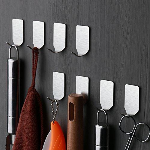 ruicer selbstklebend kleiderhaken handtuchhaken wandhaken ohne bohren f r bad und k che. Black Bedroom Furniture Sets. Home Design Ideas