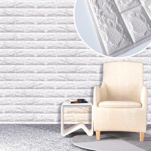 ... Tapete Weiß Ziegelstein Mauerstein Tapete Brick Pattern Wallpaper Für  Fernsehapparat Wände / Schlafzimmer/Sofa Hintergrund Wand Dekor,3D  Wandpaneele ...
