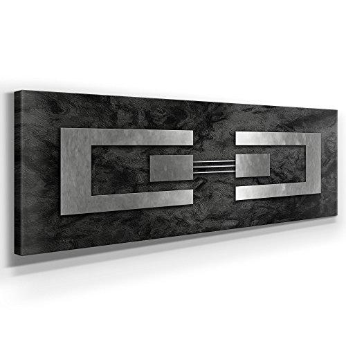 jack dyrell silber auf granit xxl bild kunst xxl 150 x 50cm leinwand auf holzrahmen. Black Bedroom Furniture Sets. Home Design Ideas