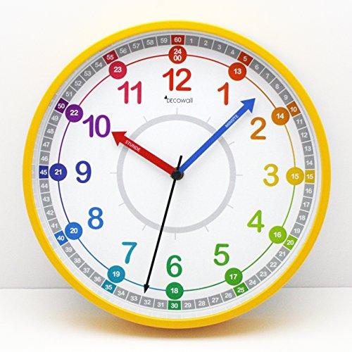 Decowall DSH-KG25Y 9.8″ Time Teacher Lernen Sie die Zeit erklären ...