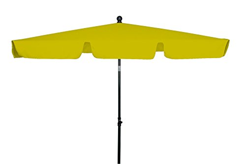 goodsun sonnenschirm rechteckschirm fl gelb 180 120 cm rechteckig gestell stahl kunststoff. Black Bedroom Furniture Sets. Home Design Ideas