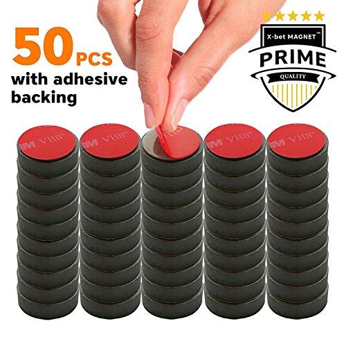 selbstklebende magnete ferrit mini magnete f r k hlschrank whiteboard magnettafel. Black Bedroom Furniture Sets. Home Design Ideas
