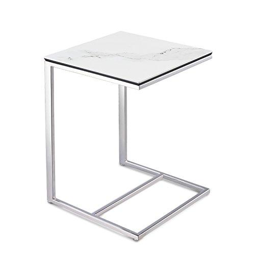 massimilano beistelltisch kleiner couchtisch sofatisch mit keramik tischplatte wei marmor optik. Black Bedroom Furniture Sets. Home Design Ideas