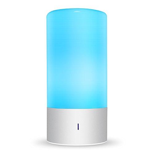 amzdeal led tischlampen 6w dimmbare nachttischlampe mit 7 farbwechsel und 3 helligkeitsstufen. Black Bedroom Furniture Sets. Home Design Ideas