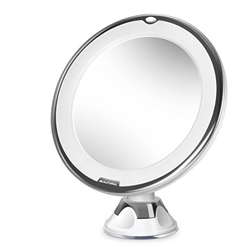 beautural led beleuchtet kompaktspiegel 10 fach vergr erung make up spiegel schminkspiegel mit. Black Bedroom Furniture Sets. Home Design Ideas