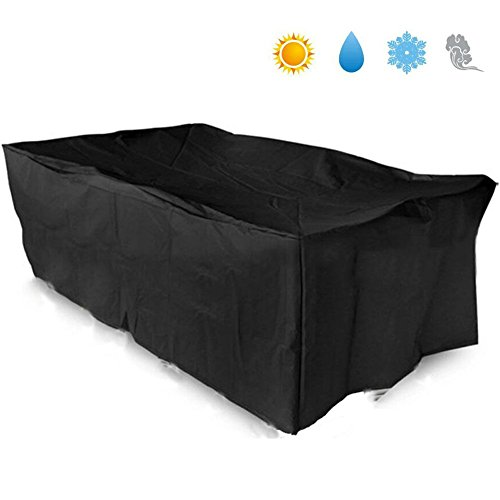 basong gartenm bel abdeckung rechteckig schutzh lle abdeckplane 242 162 100cm soxeno. Black Bedroom Furniture Sets. Home Design Ideas