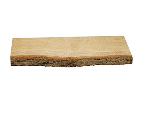 wandregal eiche massiv holz regal baumrinde baumkante rustikal wandboard 60 mit baumrinde. Black Bedroom Furniture Sets. Home Design Ideas