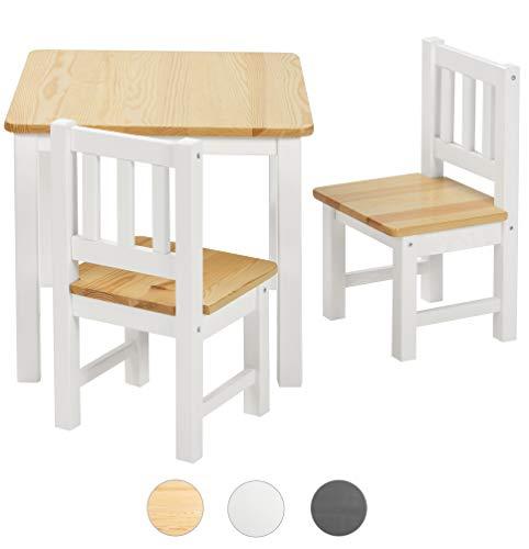 bomi kindersitzgruppe amy aus kiefer massiv holz f r kleinkinder m dchen und jungen natur wei. Black Bedroom Furniture Sets. Home Design Ideas