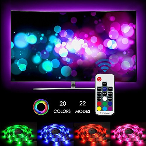 neueste led tv hintergrundbeleuchtung zknen 2m usb led tv strip beleuchtung rf wireless remote. Black Bedroom Furniture Sets. Home Design Ideas