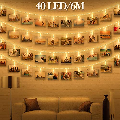 Led fotoclips lichterkette f r zimmer deko wellead clip for Zimmerdeko lichterkette