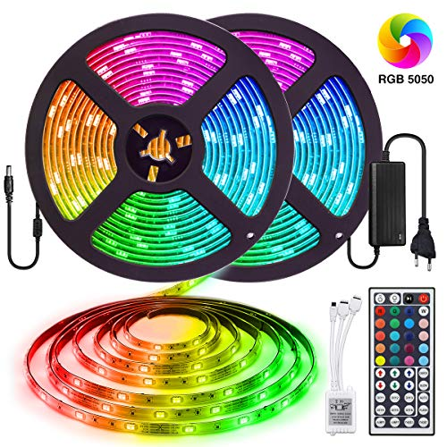 elfeland led streifen 10m rgb led strip 300 leds 5050smd. Black Bedroom Furniture Sets. Home Design Ideas